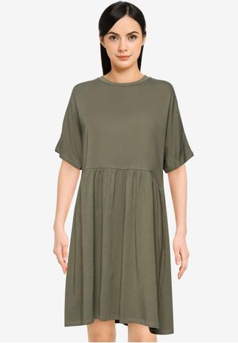 Noisy May green Kerry Short Dress 61BFAAAD7068A6GS_1