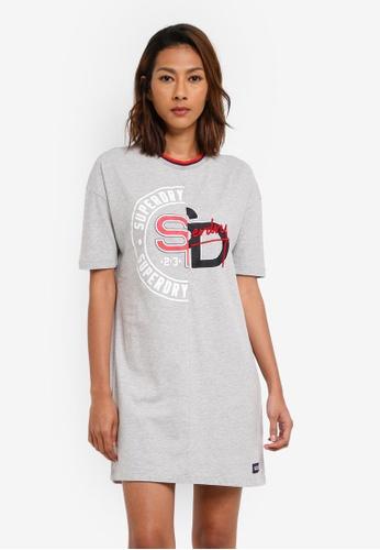 Superdry grey Boyfriend T-Shirt Dress B27E3AAC66839AGS_1