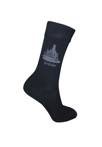 Mundo black Mundo Jogja Casual Men Sock - Candi Borobudur 429C4AA82903E6GS_1