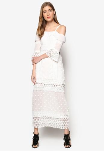 Lesley's 露肩蕾絲長洋裝, 服飾, esprit china洋裝