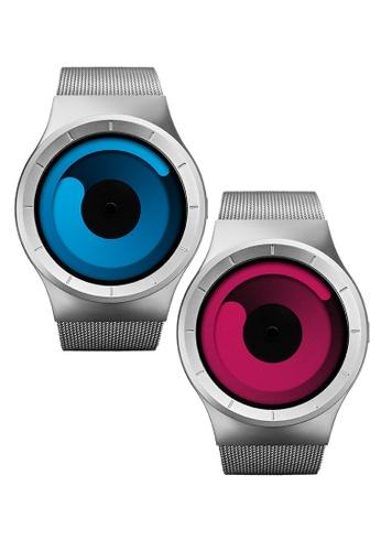 ZIIIRO multi and silver Bundle Mercury Watches - Chrome Magenta And Chrome Ocean 236C0AC0E09DCFGS_1