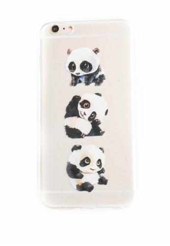 Fancy Cellphone Cases multi Pandas Soft Transparent Case for iPhone 6plus/6splus FA644AC93HUGPH_1