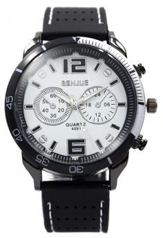 Senjue Anderson Men's Rubber Strap Watch SENJUE003-4091