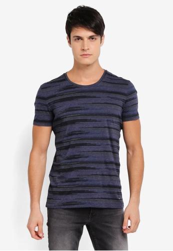 BOSS blue and navy Tamigo T-Shirt - Boss Casual BO517AA0SRBJMY_1