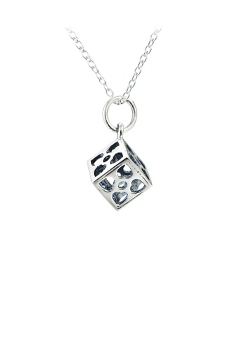 Glamorousky silver 925 Sterling Silver Fashion Simple Geometric Square Pendant with Necklace 4B5ECAC2287CA4GS_1
