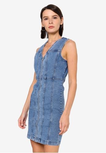 Vero Moda blue Kenna Short Denim Dress AD46EAA1892F57GS_1