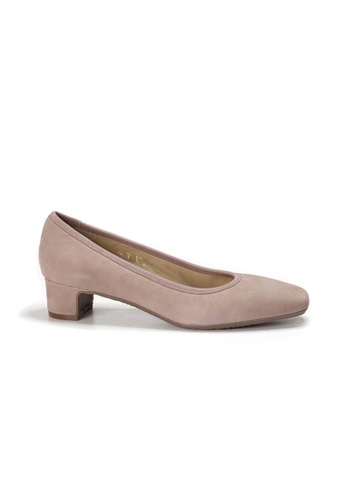 Shu Talk purple LeccaLecca Classy Square Toe Comfy Leather Low Heels 80239SH01DDEA7GS_1