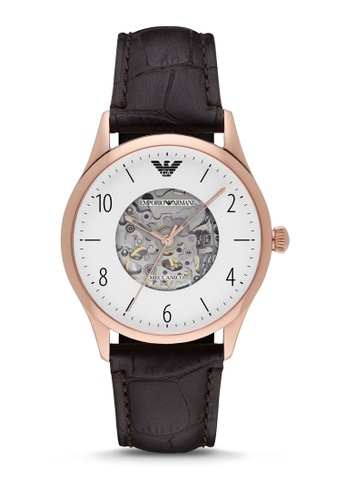 Emporio Armani brown Armani Brown Leather Watch AR1920 69C5EAC0DFD904GS_1
