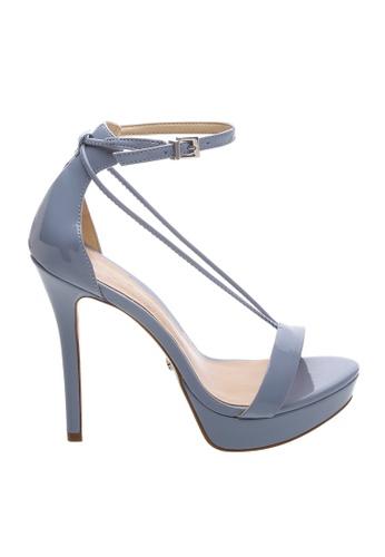 Schutz 藍色 SCHUTZ 厚底搭帶高跟涼鞋 - LILY (牛仔) F7339SHBBF9796GS_1