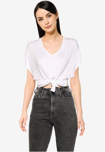 Cotton On white Kris Short Sleeve V Neck Tee 75EA5AA5E25DBAGS_1