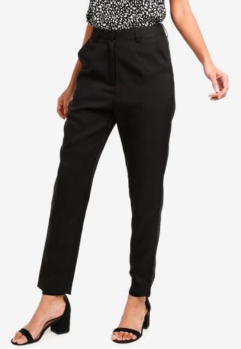 ZALORA BASICS black Basic High Waisted Tailored Pants 4C0E5AAF9D1E83GS_1