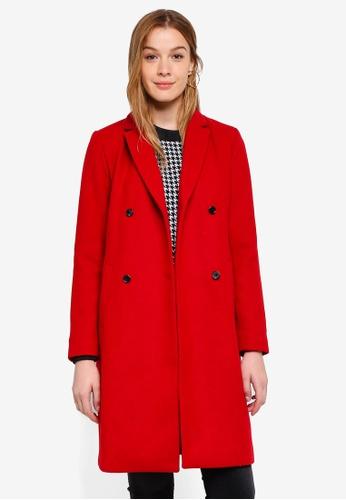 Modstrom red Odelia Coat C9C80AAA9B5BFBGS_1