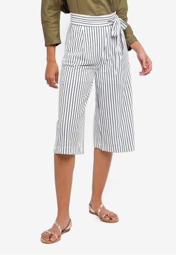 Hopeshow navy Striped Capri Pants C6A8DAA8AF66D5GS_1