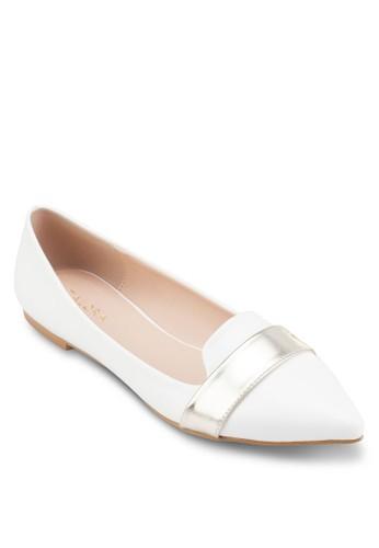 拼色帶尖頭平底鞋、 女鞋、 鞋ZALORA拼色帶尖頭平底鞋最新折價