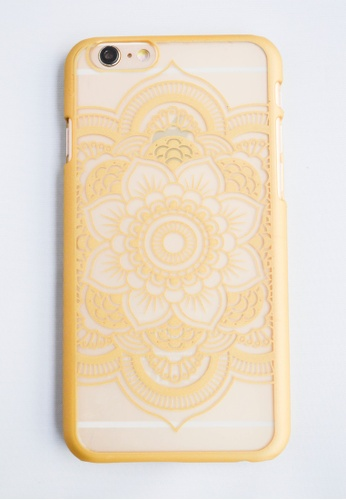 Fancy Cellphone Cases gold Flower Mandala for iPhone 6 plus FA644AC12EWPPH_1