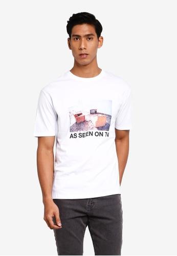 Factorie 白色 印花T-襯衫 65315AAB710C84GS_1