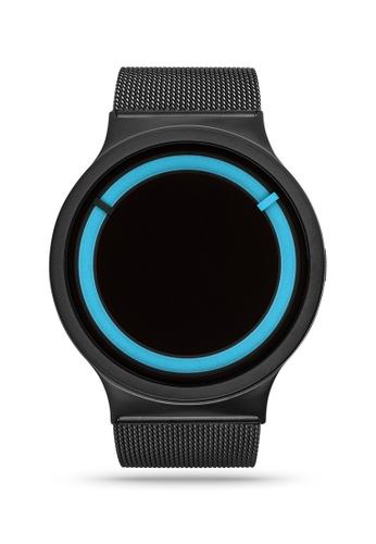ZIIIRO black and blue Eclipse Steel Black Ocean Watch 88230AC41BB540GS_1
