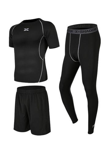 Sunnydaysweety black Short Sleeves Tops, Tights and Shorts Set A081026BK B6123AAC8C352CGS_1