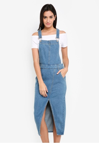210f4e32a9d Buy ZALORA Denim Dungaree Dress Online on ZALORA Singapore