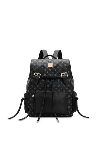 PLAYBOY BUNNY black Buckle Monogram Backpack B19B8AC0C120A8GS_1