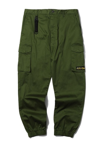 Fivecm green Key ring detail cargo pants ED2F2AAA857C82GS_1