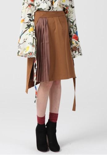 不平衡打esprit門市地址褶迷笛裙, 服飾, 及膝裙