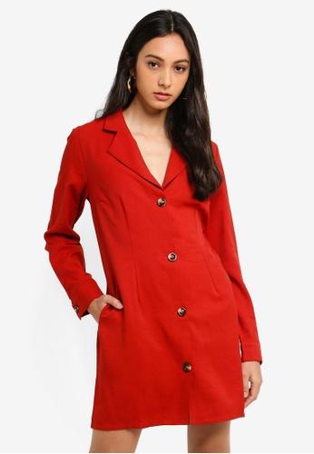 Glamorous red Blazer Dress 2FA12AA5184F3DGS_1