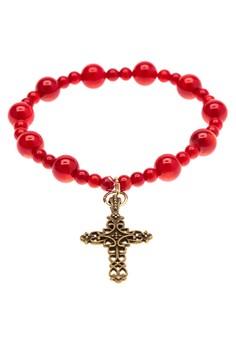 Birthstone Rosary Bracelet - Coral
