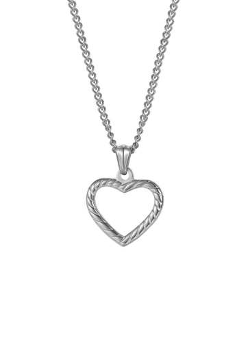 CELOVIS silver CELOVIS - Cherie Twisted Heart Pendant Necklace in Silver 99678AC1F86A42GS_1
