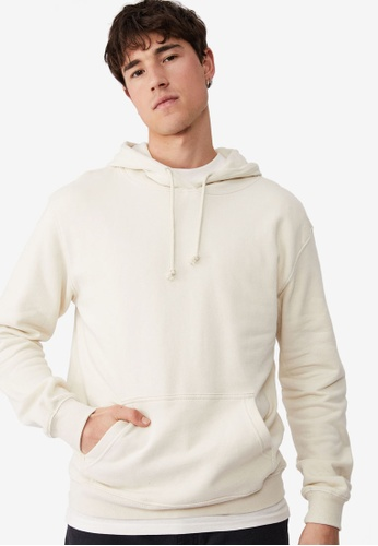 Cotton On white Essential Fleece Pullover Hoodie C777CAAB3DC67FGS_1