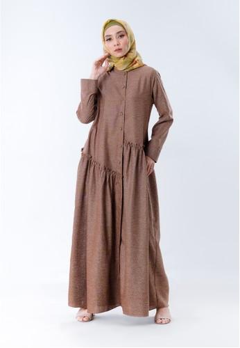 INA PRIYONO brown GAMIS ANAIA Silk Brown by Ina Priyono 3CC92AAADA1504GS_1