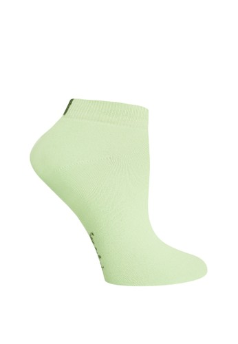 SOXGALERI green Anti-Bacterial Cotton Sneaker Socks for Women A7E81AA9836B5FGS_1