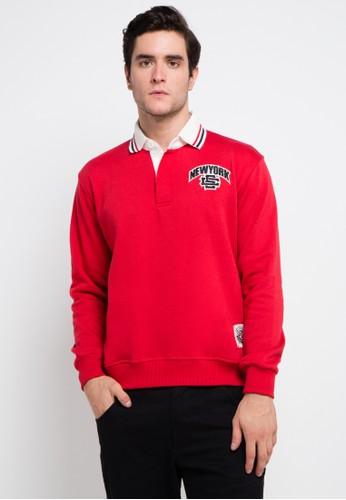 SHARKS red Sweatshirt SH473AA0VMGMID_1