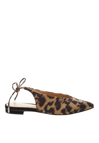 SCHUTZ brown Fabric Loapad Ballerina Shoes - PERCEFI [CARAMEL/MULTI YELLOW] 3277DSHDBA608DGS_1