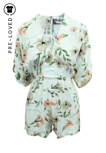Reformation pink Pre-Loved reformation Pink Blush Flowery Pattern Playsuit 7E0A5AA6814D14GS_1
