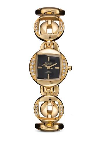 JES632G 閃鑽esprit tw圓框鍊錶, 錶類, 飾品配件