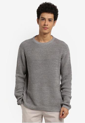 Cotton On 灰色 Split Hem Knit Jumper BD407AA08592F1GS_1