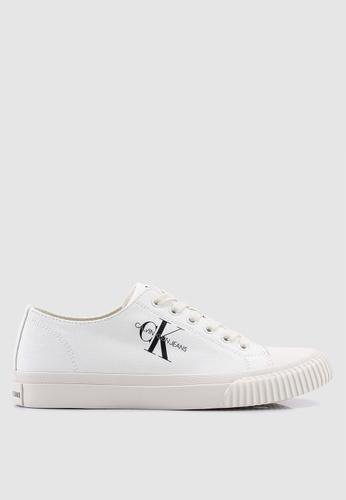 Calvin Klein white Iaco Sneakers 39EE5SHC8F3A6DGS_1