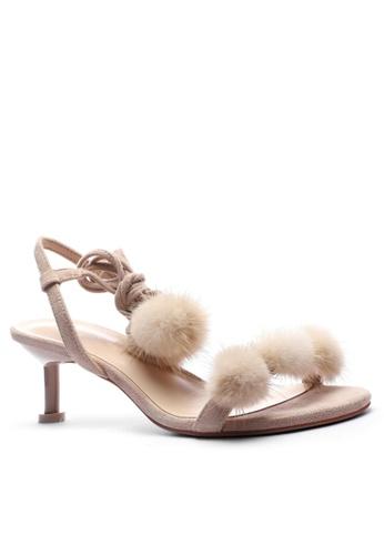 Twenty Eight Shoes Fur Ball Heels Sandals 365-50 B7C0ESHC848288GS_1