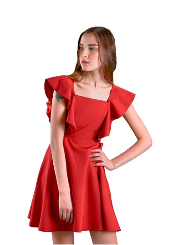 307a4d13 Buy The Scarlet Room Fairyn 2-way Cut-out Dress in Red Online on ZALORA  Singapore