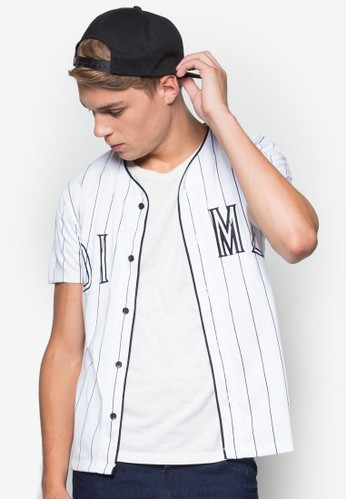 Men&#0esprit旗艦店39;s Striped Dime Baseball Shirt, 韓系時尚, 梳妝