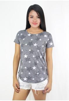 Zoe Stars Short Sleeves Top