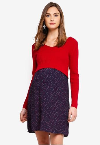 fe4fd2704623a Buy Seraphine Madeline Maternity And Nursing Woven Dress | ZALORA HK