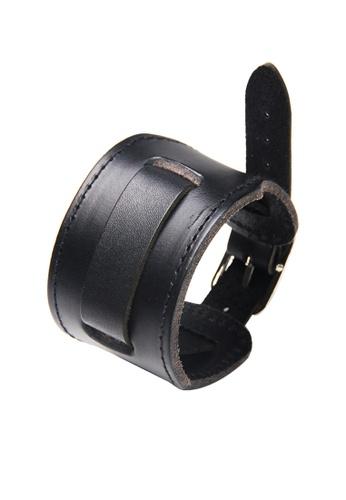 HAPPY FRIDAYS Wide Vintage Leather Cuff Wrap Bracelet QNW2458 09D74ACCAB5A43GS_1