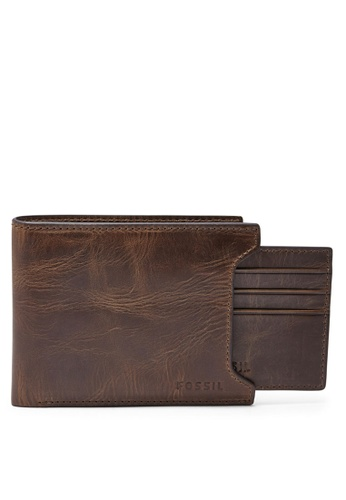Fossil brown Fossil 2-In-1 Wallet ML3685201 FO164AC92ISTMY_1