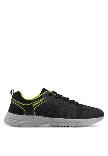 Power black and green Power Mens Running Shoes 04DDDSH7629542GS_1