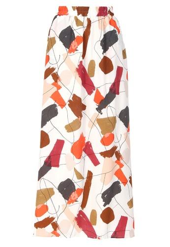 POPLOOK brown Livy A-Line Skirt 2E400AAC5B089DGS_1