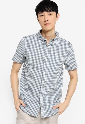 ZALORA BASICS multi Short Sleeve Checked Shirt 809AEAAF13A761GS_1