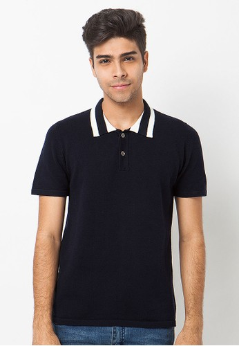 Knitwork Black Casual Polo Shirt
