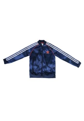 ADIDAS blue allover print camo sst track jacket DD0A6KABB5DEB8GS_1